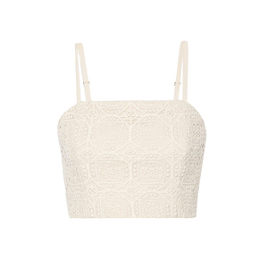 Medium alice and olivia brentley crocheted cotton top
