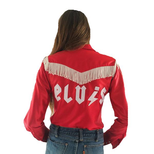 Large elvis glam red shirt