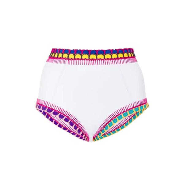 Large kiini flor high waisted bikini bottom
