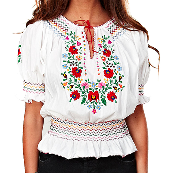 Large muzungo sister dora blouse white