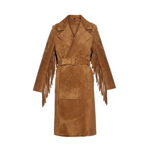 Medium burberry prorsum fringed suede coat