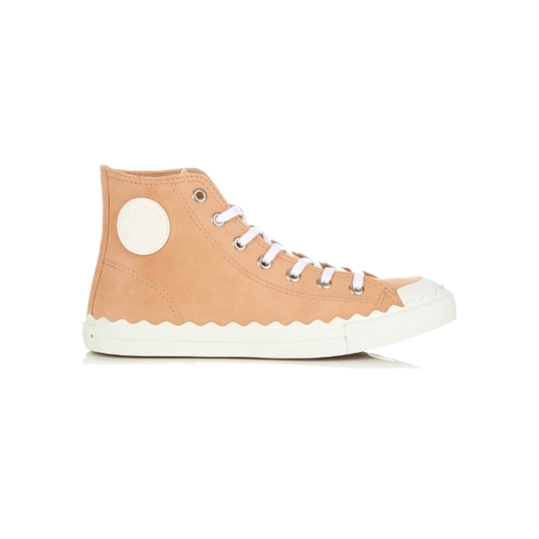 Large chlo  kyle high top suede trainers