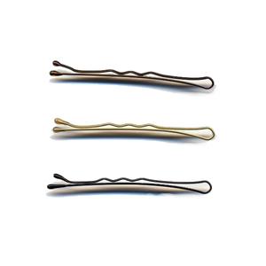 Medium hair tools 2  waved grips brown  packet of 50  ht61095