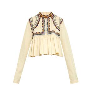 Medium isabel marant sachi embellished pleated top