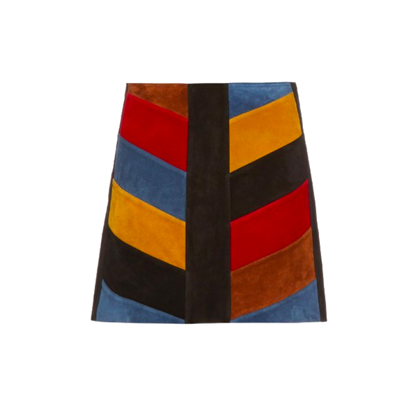 Large m.i.h jeans chevron suede mini skirt matches