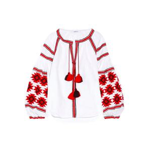 Medium march11 geometry embroidered linen blouse netaporter
