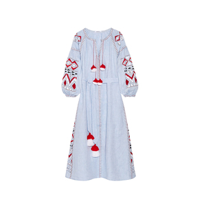 Medium march11 kilim embroidered linen maxi dress