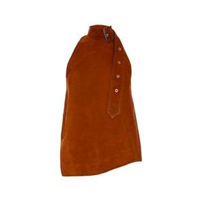 Medium marques almeida buckle halterneck suede top