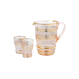 Medium ceraudo gold jug and glasses