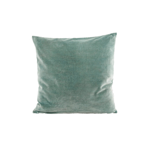 Medium dusty green velvet cushion