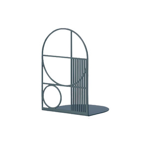 Medium ferm living outline bookend   dark blue