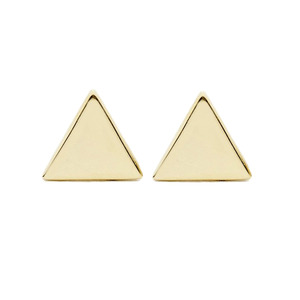 Medium willow roe triangle stud earring