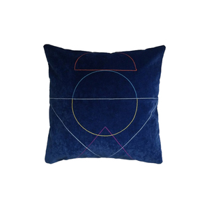 Medium fun makes good outlines cushion in navy