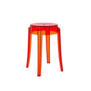 Medium kartell charles ghost stool 46cm   orange