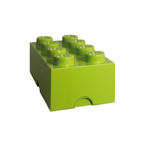 Medium lego lego storage box 8 lime green