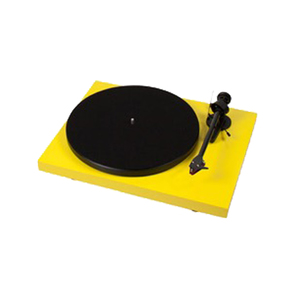 Medium pro ject debut carbon  dc  yellow turntable w  ortofon 2m red mm cartridge