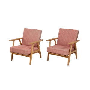 Medium hans wegner ge 240 lounge chairs 1st dibs