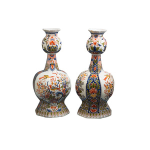 Medium 1st dibs pair of delft vases  circa 1800
