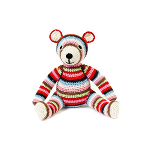 Medium anne claire petit teddy bear stripe