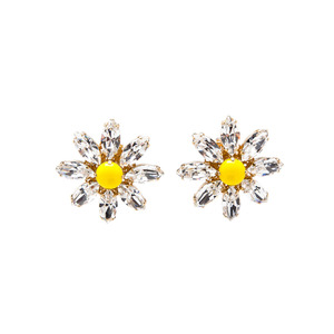 Medium dolce   gabbana women s yellow daisy earrings with crystals
