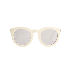 Medium saint laurent round mirrored acetate sunglasses