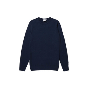 Medium sunspel women s fine merino jumper in light navy