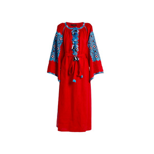 Medium vita kin xoxo embroidered linen tunic dress