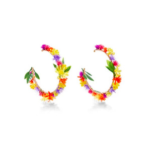 Medium mercedes salazar fiesta flower earrings