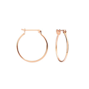 Medium dodo small hoop earring 9kt rose gold