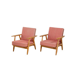 Medium hans wegner ge 240 lounge chairs 1st dibs