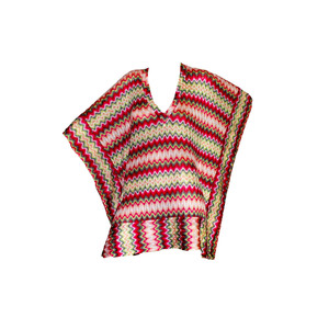 Medium missoni chevron knit kaftan cover up