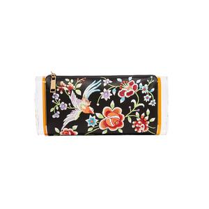 Medium edie parker soft lara embroidered satin and acrylic box clutch