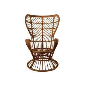 Medium fan back wicker attributed to ponti