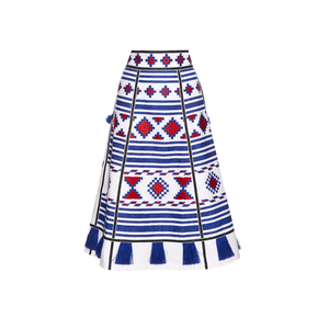 Medium vita kincroatia embroidered linen skirt