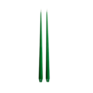 Medium taper candle pair green ester   erik the conran shop