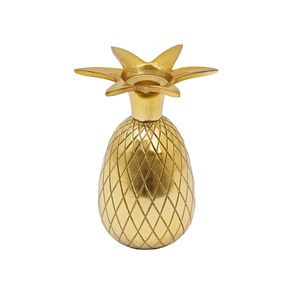 Medium trouva gold pineapple candleholder