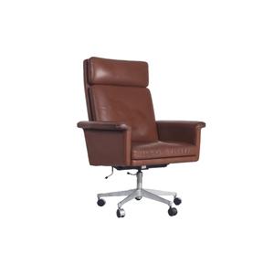 Medium ceraudo tan leather swivel chairtan leather swivel chair