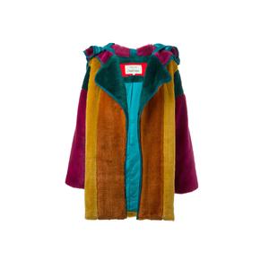 Medium jc de castelbajac vintage colour block faux fur coat