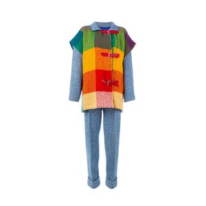 Medium jc de castelbajac vintage herringbone tweed trouser and coat set