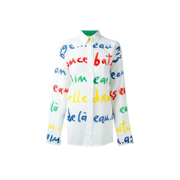 Large jc de castelbajac vintage letter print shirt