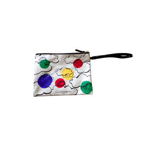 Medium jc de castelbajac white synthetic clutch bag