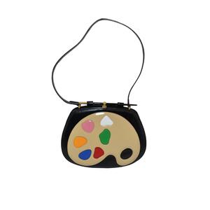 Medium moschino vintage rare 1990s artist s palette leather shoulder bag