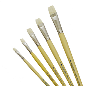 Medium winsor   newton hog long handle flat brush