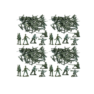 Medium 100 x traditional green army men combat force toy plastic soldiers amazon
