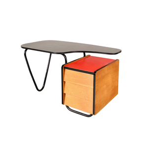 Medium desk by jacques hitier for tubauto  france  circa 1950