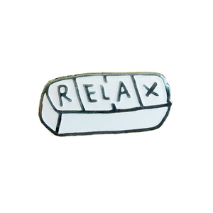 Medium relax enamel pin