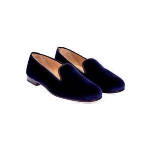 Medium stubbs and wootton nsecure navy slippers