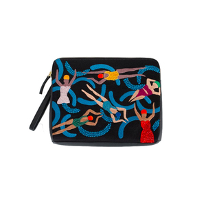Medium lizzie fortunato pool girls safari clutch