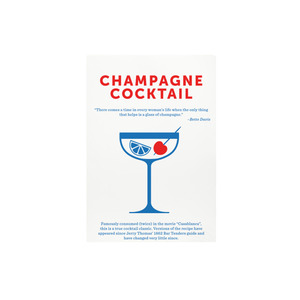 Medium champange cocktail