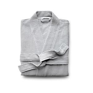 Medium aoyuchi waffle robe grey trnk nyc